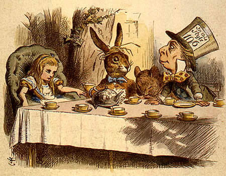 "The Mad Hatter's Tea Part from 'Alice in Wonderland"" by Lewis Carroll"